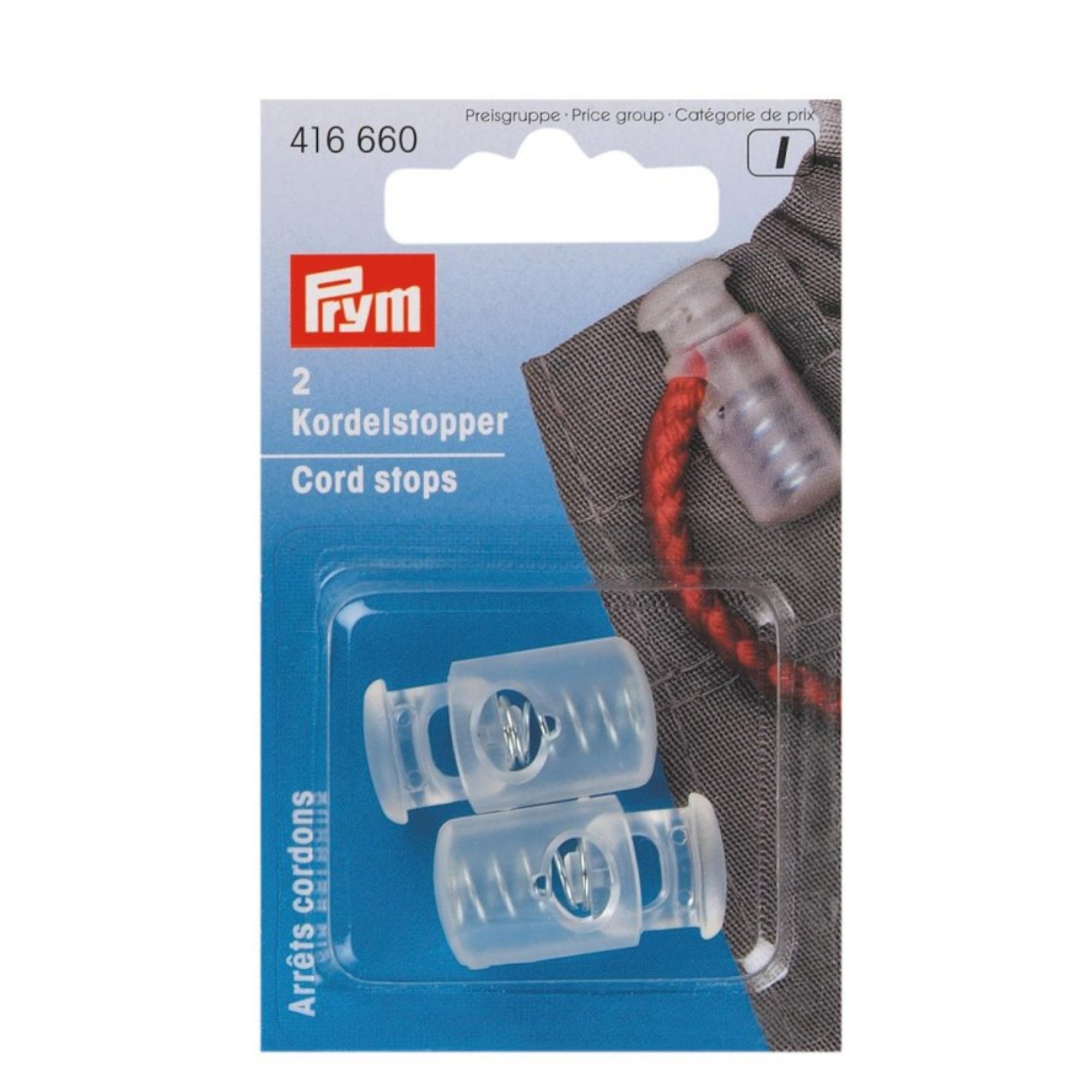 Prym Cord-stopper, transparant, large