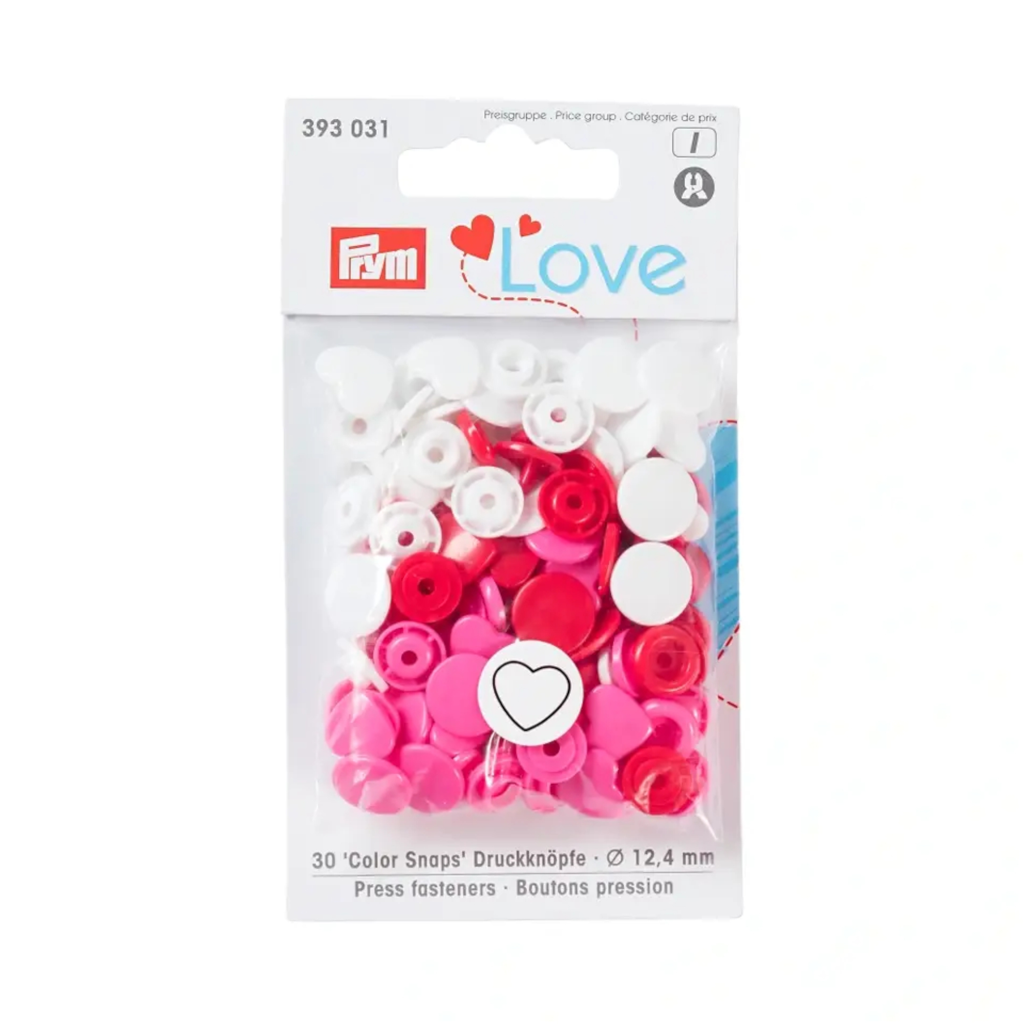 Prym Love pression button Color Heart red