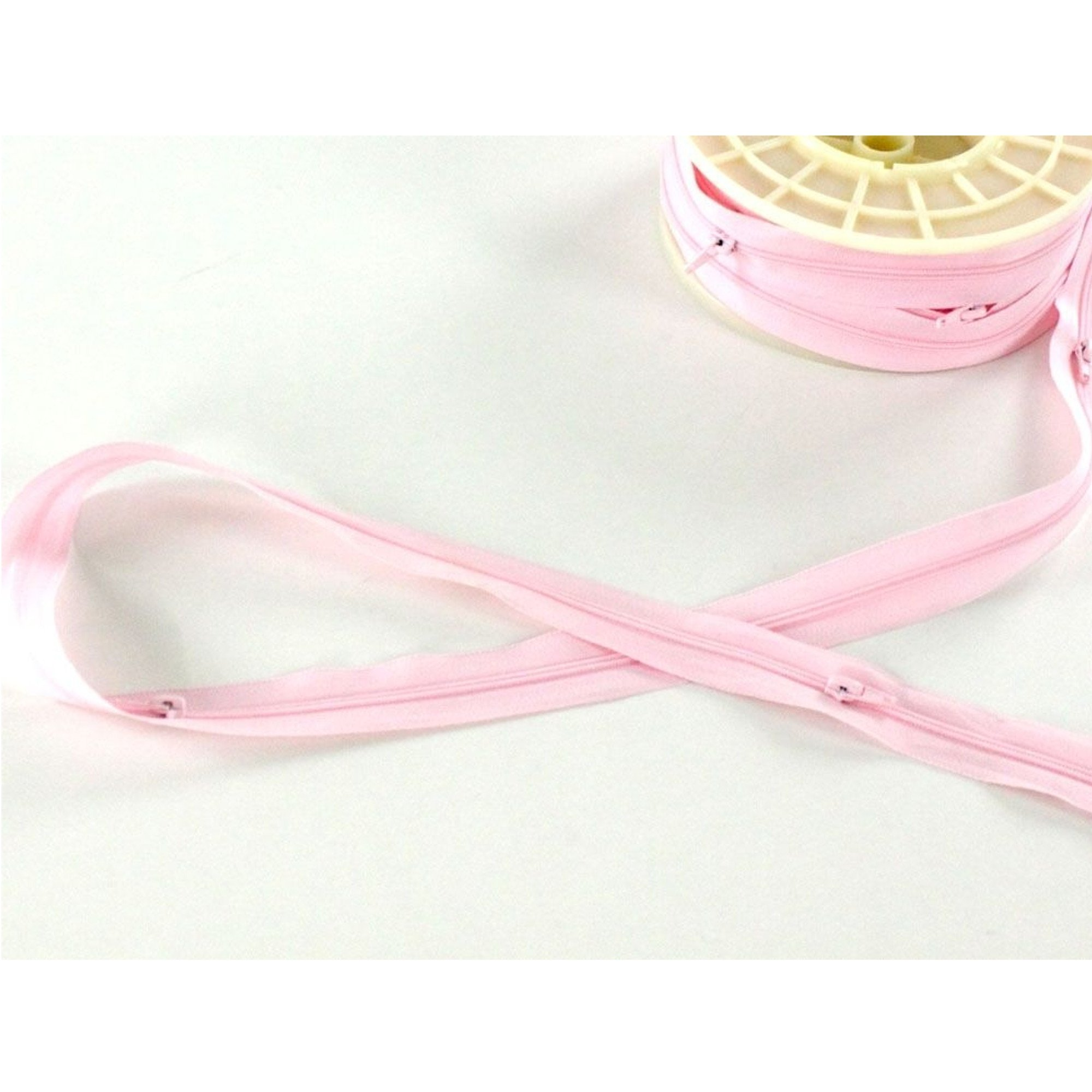 zipper Meterware pink