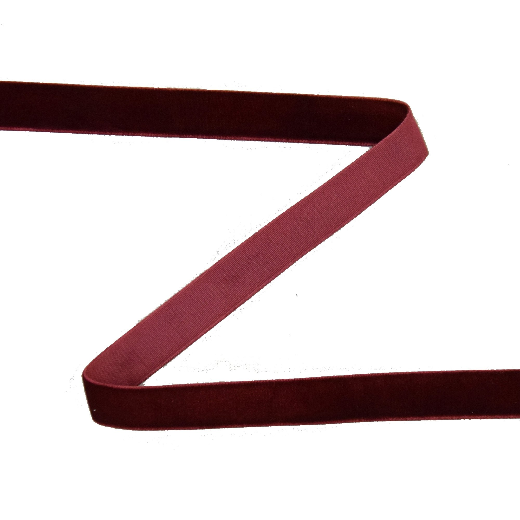 Velvet tape 15 mm, burgundy