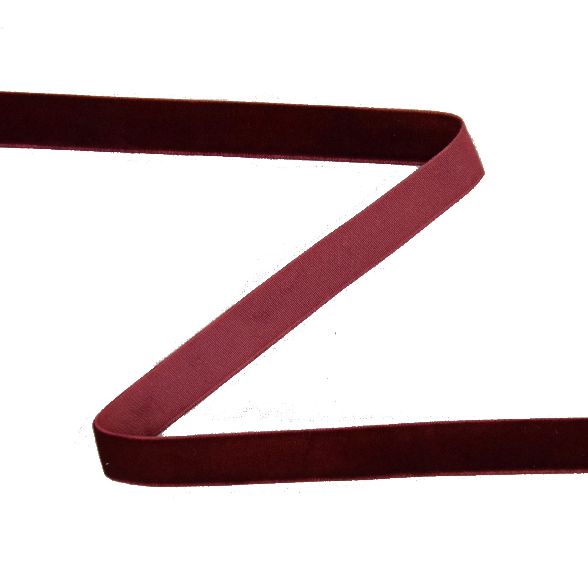 Velvet tape 15 mm, burgundy | 30261 | rot