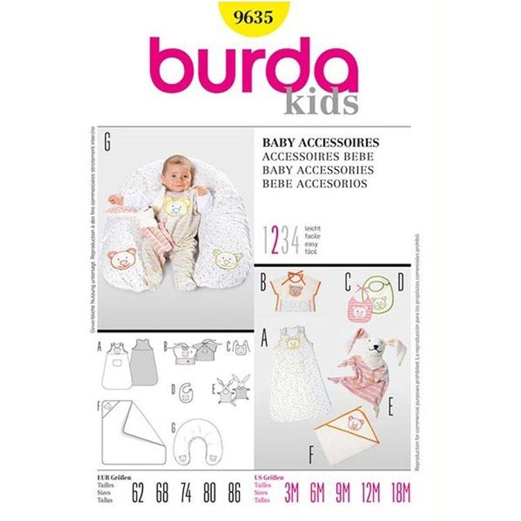 Schnittmuster Baby Accessoires, Burda 9635   stoffe-hemmers.de