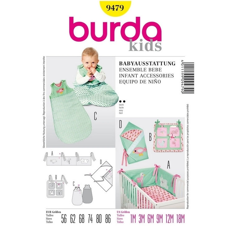 Paper Pattern Baby combination, Burda 9479