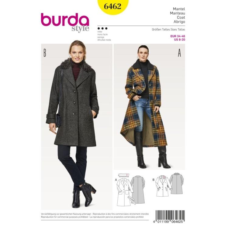 Sewing pattern blazer coat, Burda 6462   fabrics-hemmers.com