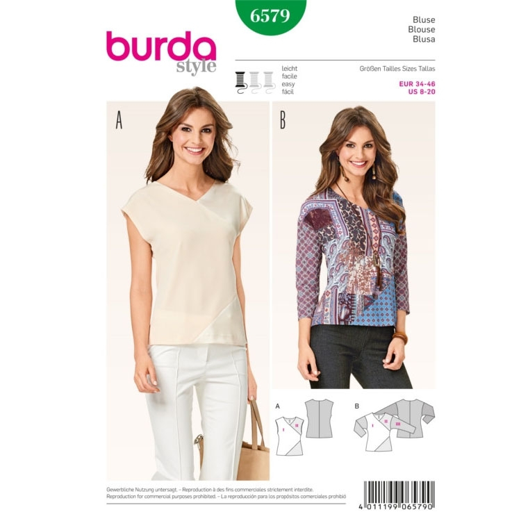 Blouse, Burda 6579