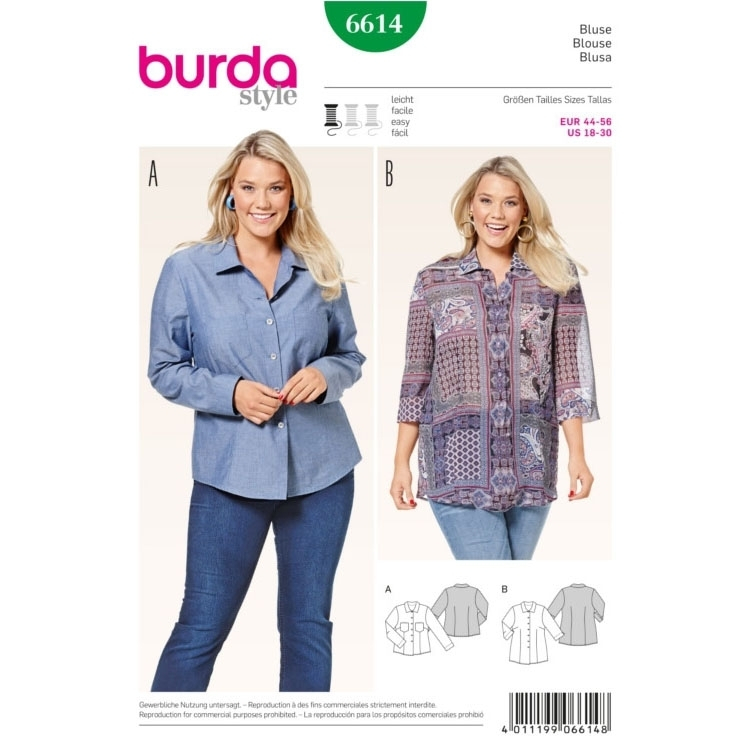 Blouse , Burda 6614