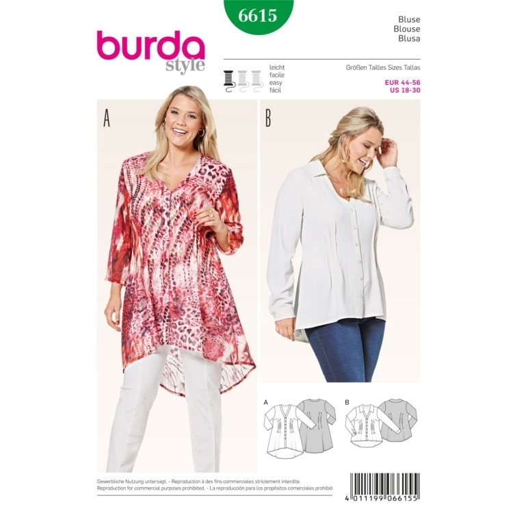 Blouse , Burda 6615