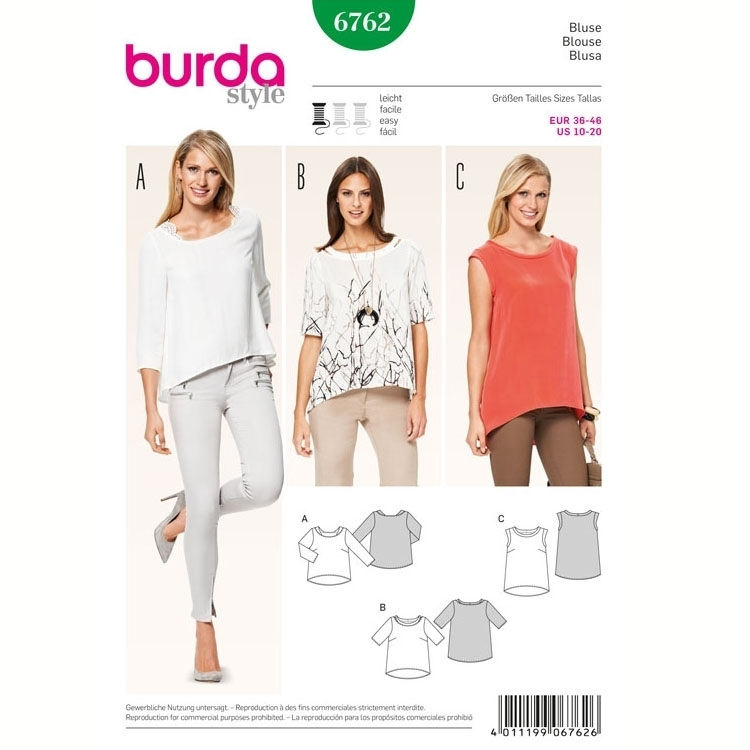 Sewing pattern Blouse, Burda 6762