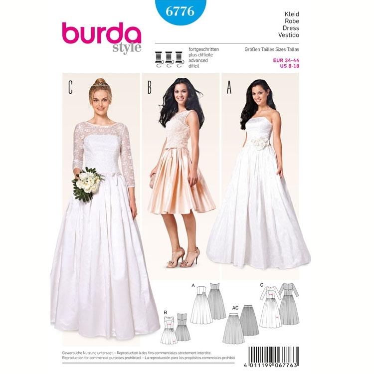 Sewing pattern Dress, Burda 6776 | fabrics-hemmers.com