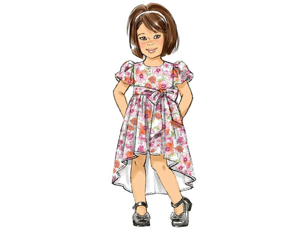 Schnittmuster für ein Kinderkleid von Butterick Nr 6161