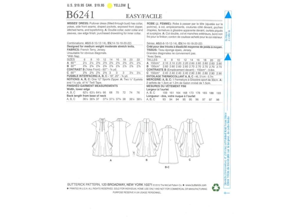 Schnittmuster Butterick 6241 Kleid | stoffe-hemmers.de