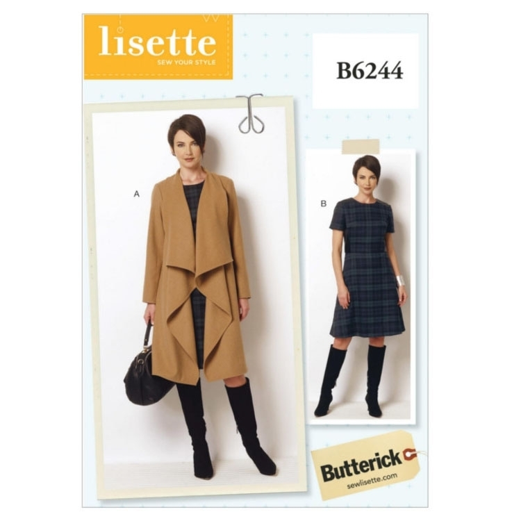 Pattern Butterick 6244 Misses Coat and Dress