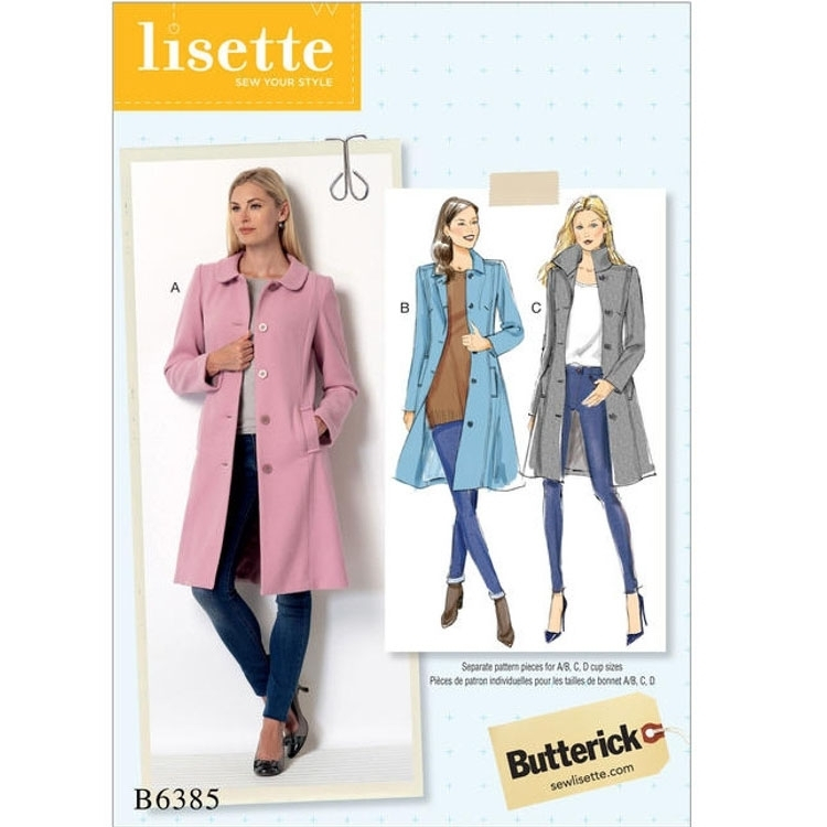 Pattern Butterick 6385 Misses' Coat