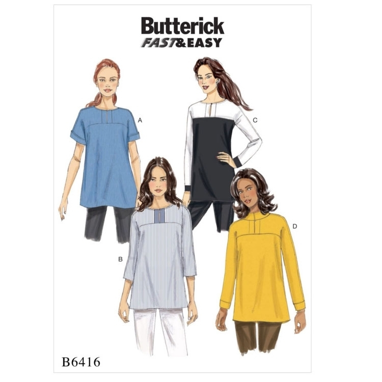 Pattern Butterick 6416 Misses' Tunic
