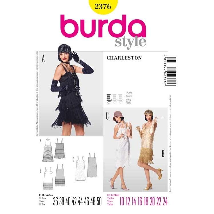 Sewing pattern Burda 2376, Charleston dress | fabrics-hemmers.co.uk