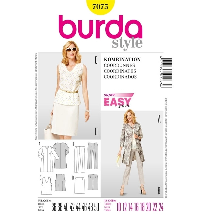 Sewing pattern COORDINATES, Burda 7075