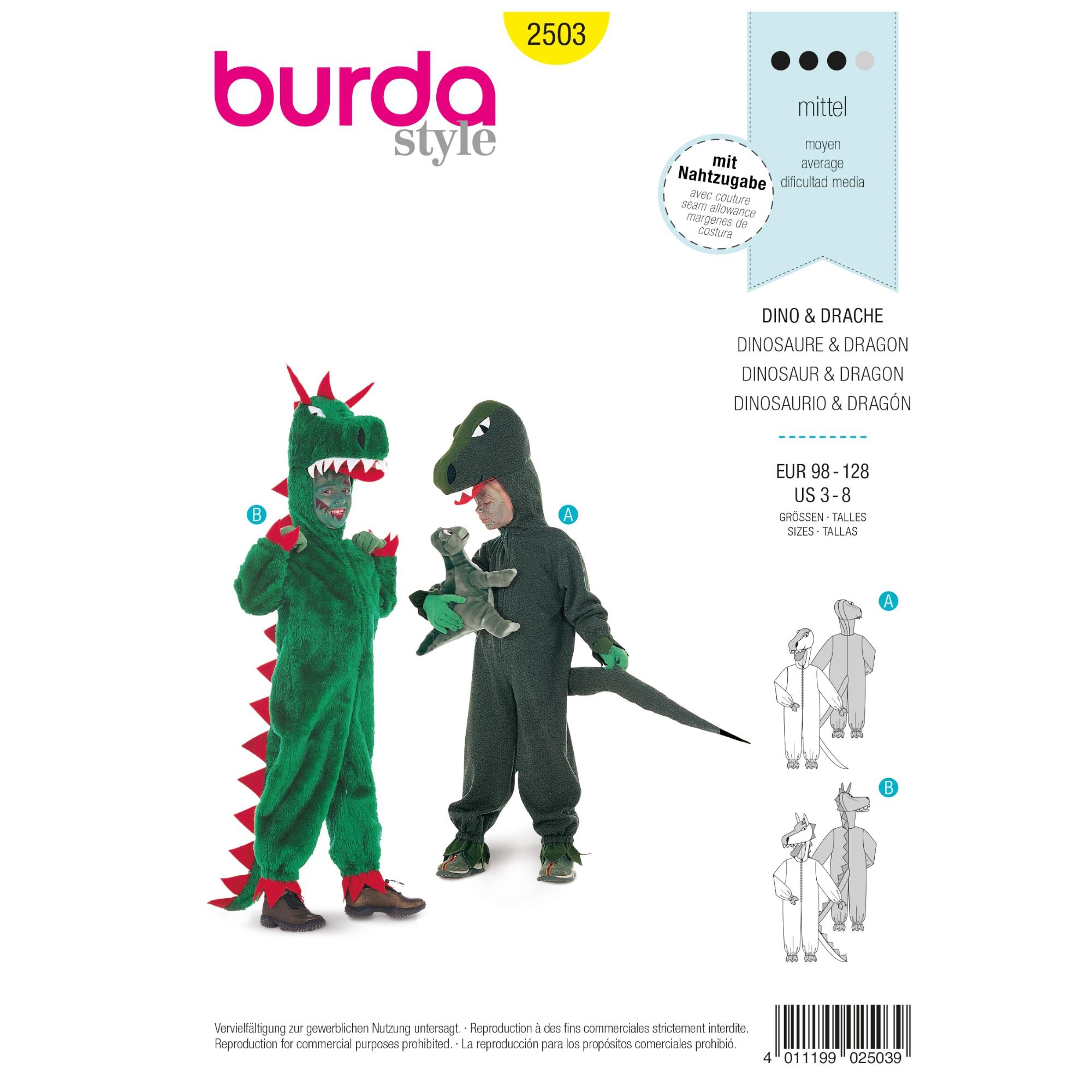 Sewing pattern Dinosaur & Dragon, Burda 2503 | fabrics-hemmers.com