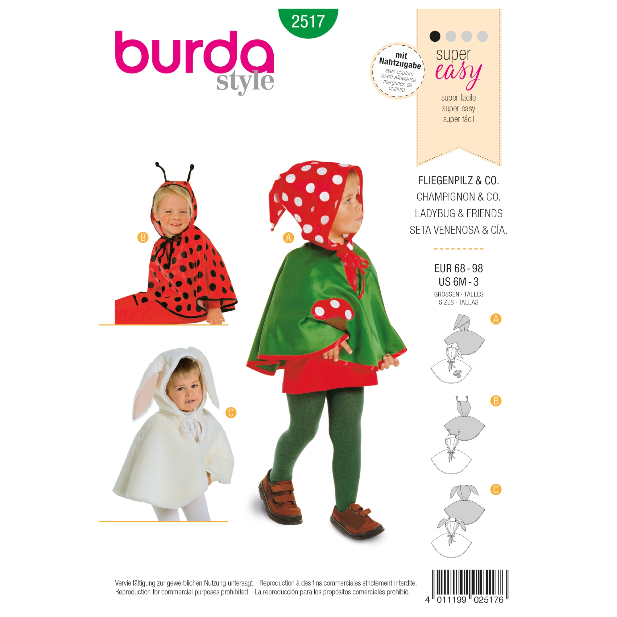Sewing patterns Muchomor and Inne, Burda 2517