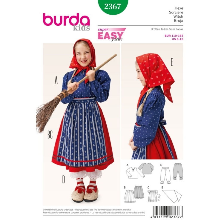 Naaipatroon heks, Burda 2367