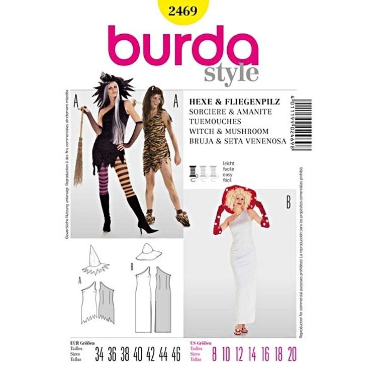 Sewing patterns Sorcière & Amanite Tuemouches, Burda 2469