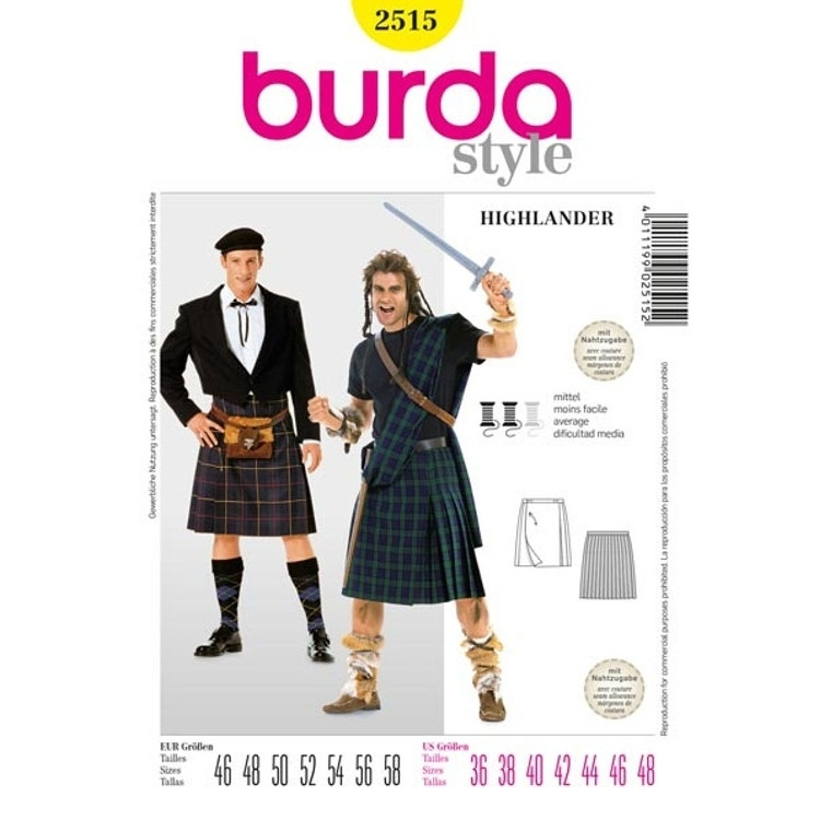 Sewing Patterns Highlander, Burda 2515