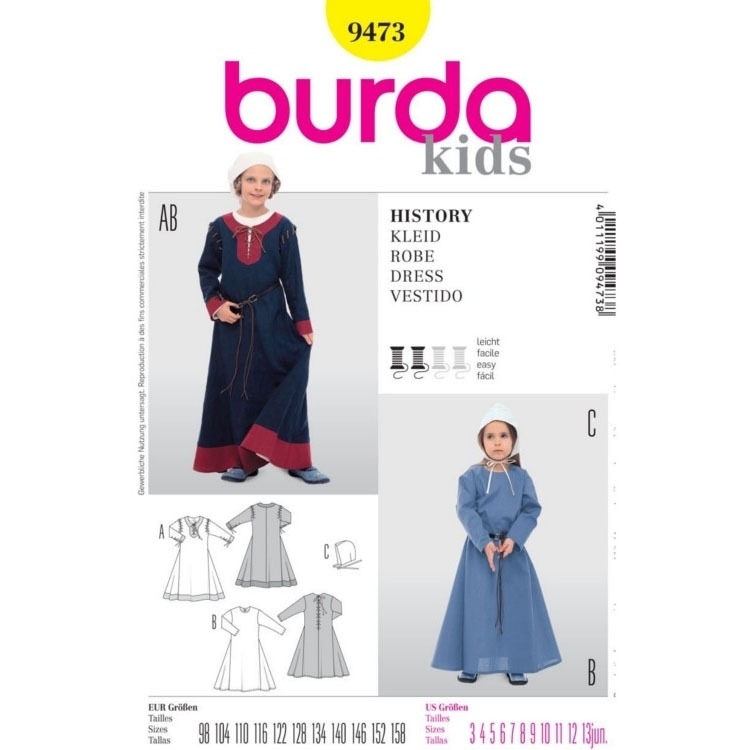 Naaipatron DRESS HISTORY, Burda 9473