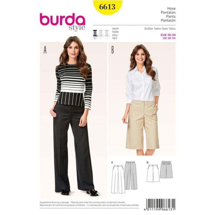 Pants , Burda 6613 | fabrics-hemmers.co.uk