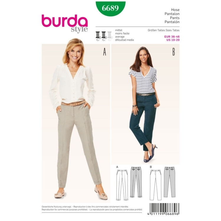 Trousers, Burda 6689