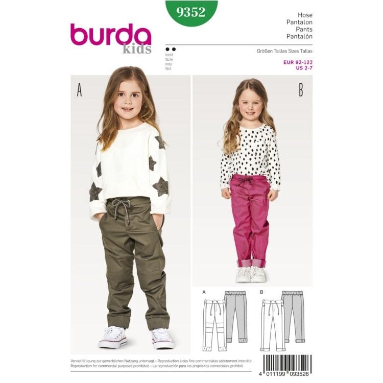 Schnittmuster für Hosen von Burda Nr 9352