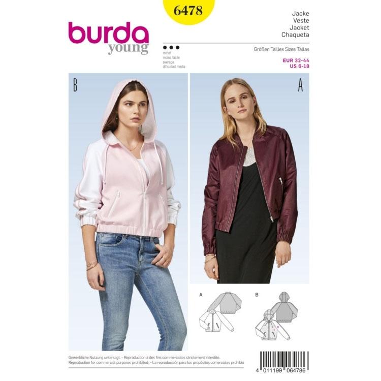 Sewing pattern jacket, Burda 6478 | fabrics-hemmers.co.uk
