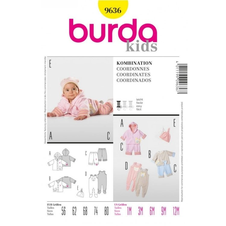 Sewing pattern COORDINATES, Burda 9636