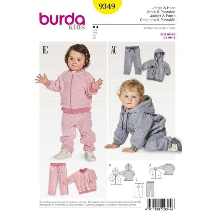Sewing pattern Burda 9349, baby: sweatpants and jacket | fabrics ...
