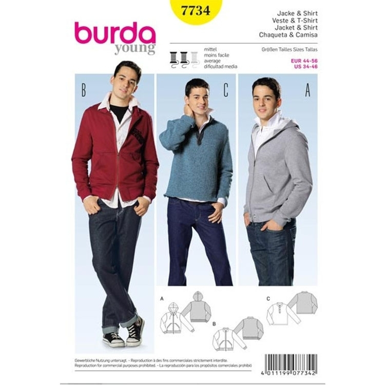Paper Pattern Jacket and Shirt, Burda 7734