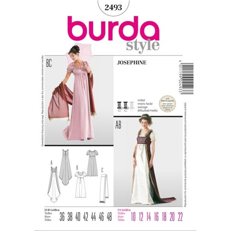 Naaipatronen Josephine and Grand Dame, Burda 2493