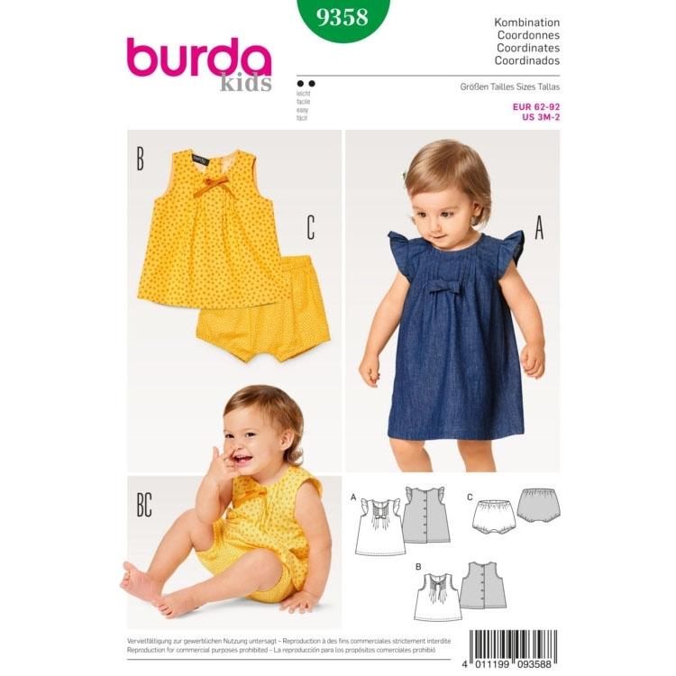 Schnittmuster für Kids von Burda Nr 9358