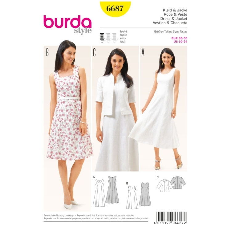 Dress & Jacket, Burda 6687