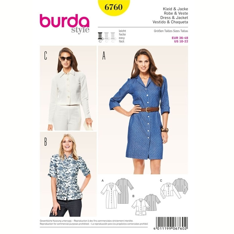 Sewing pattern Dress & Jacket, Burda 6760