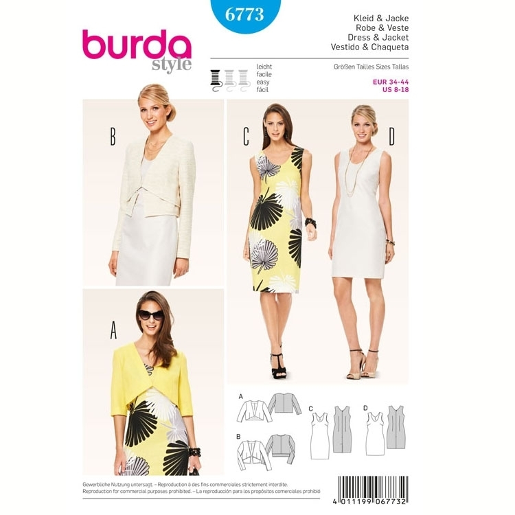 Sewing pattern Dress & Jacket, Burda 6773