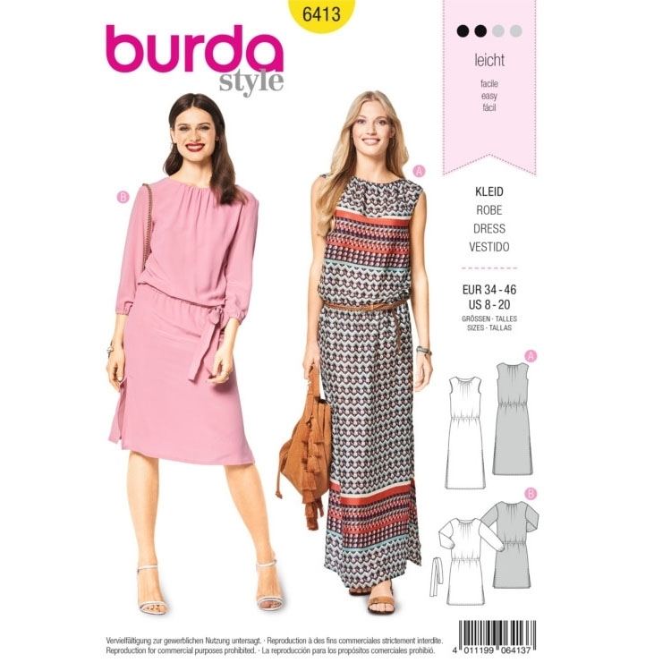 Sewing pattern Burda 6413, dress | fabrics-hemmers.com