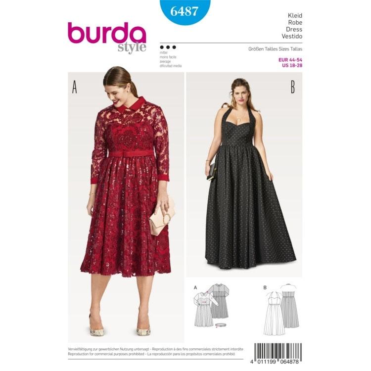 Schnittmuster Kleid, Burda 6487   stoffe-hemmers.de