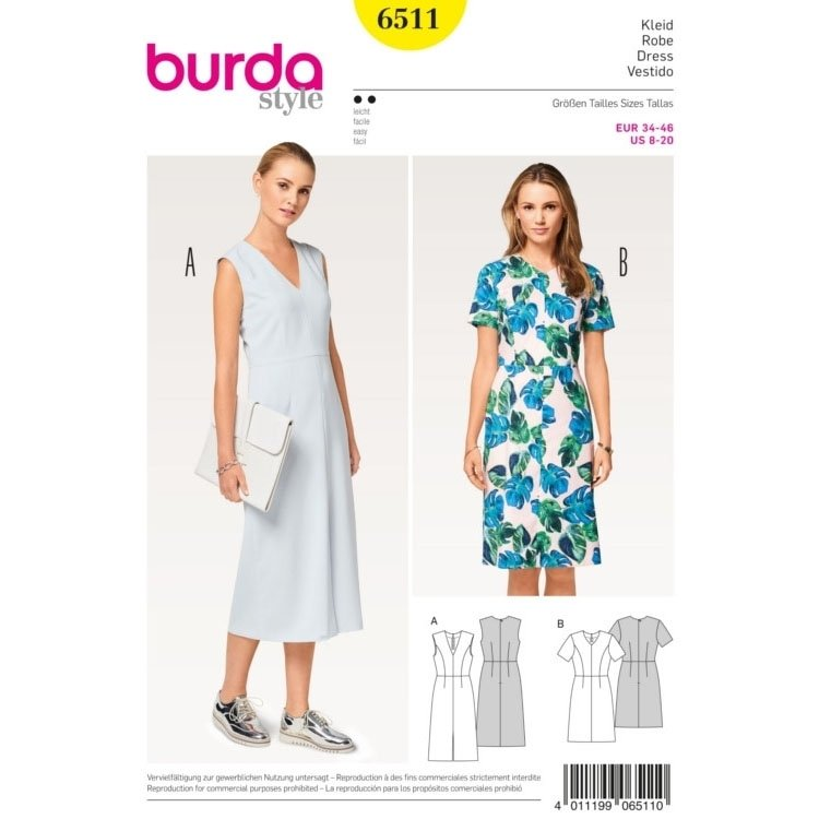 Pattern Dress, Burda 6511 | fabrics-hemmers.co.uk