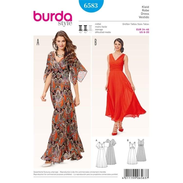 Schnittmuster Kleid, Burda 6583 | stoffe-hemmers.de