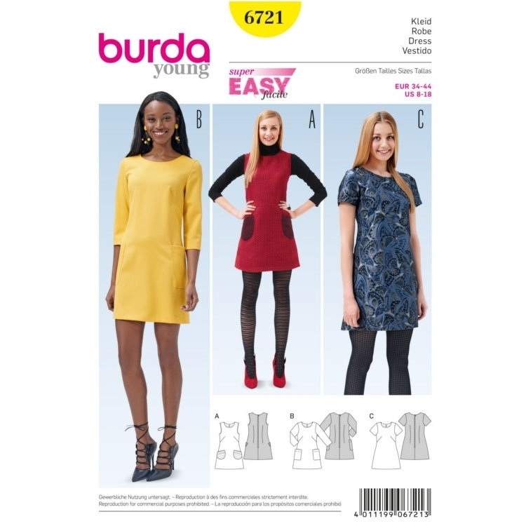 Sewing pattern Sukienka, Burda 6721