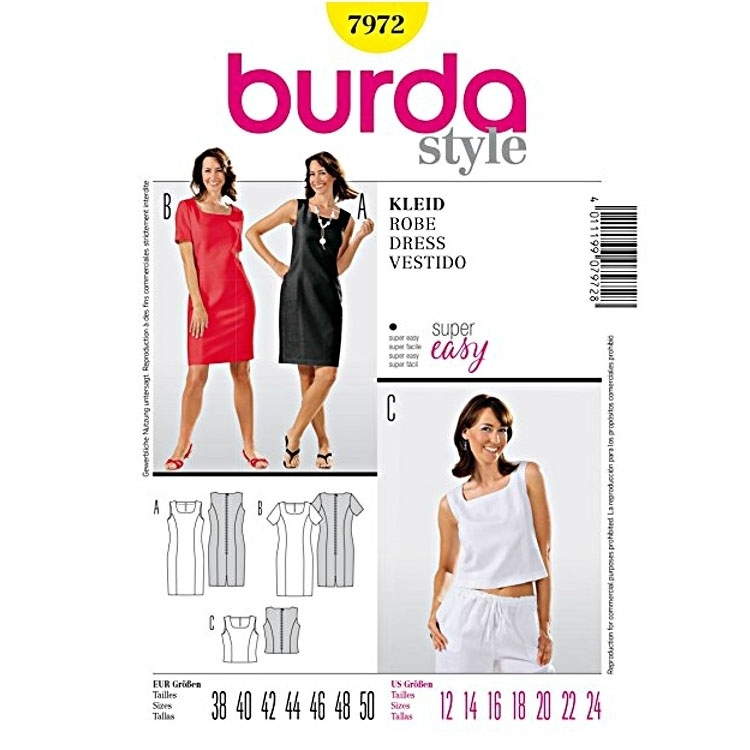 Paper Pattern Dress, Burda 7972