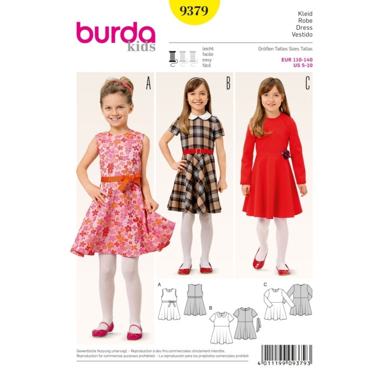 Sewing pattern dress, Burda 9379