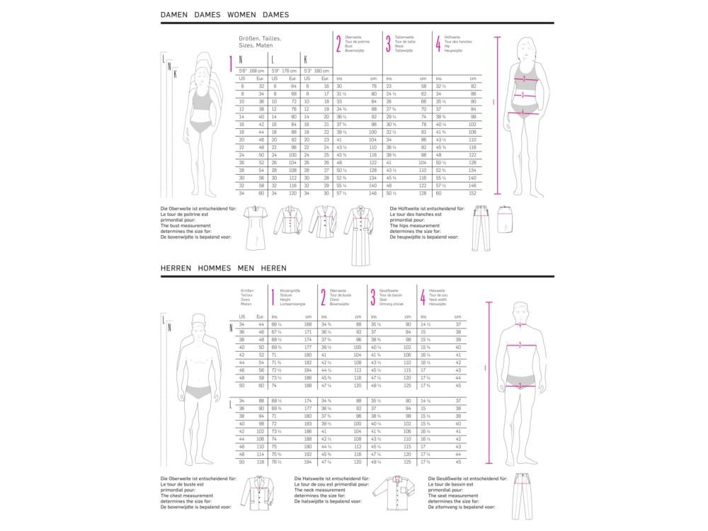 Schnittmuster Kleid, Jacke, und Weste, Burda 2457 | stoffe-hemmers.de