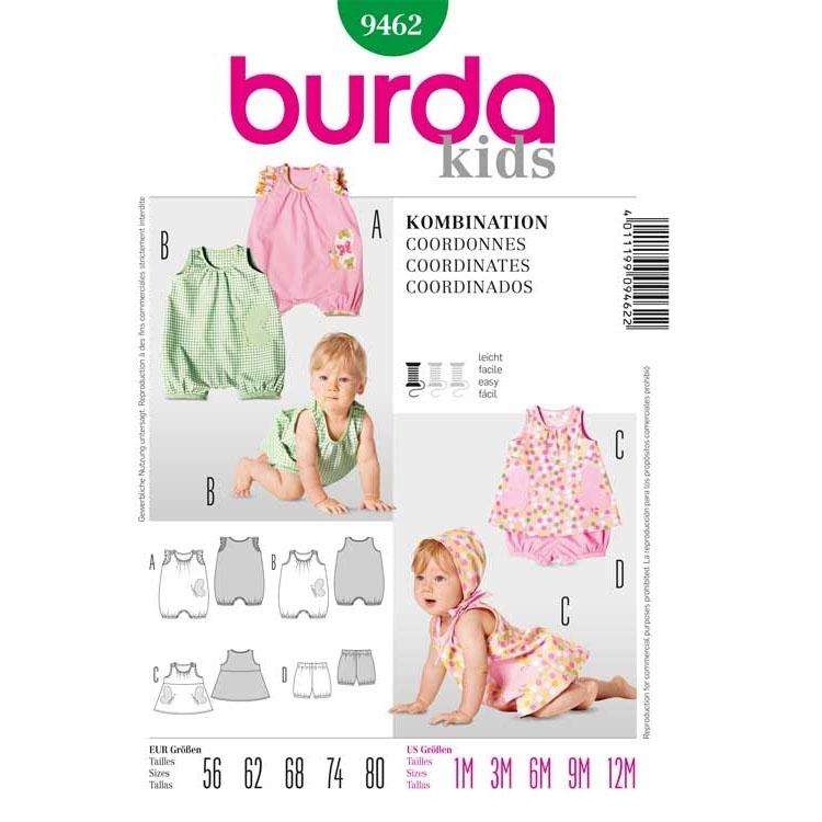 Schnittmuster für Kleid mit Höschen oder Overall von Burda Nr 9462