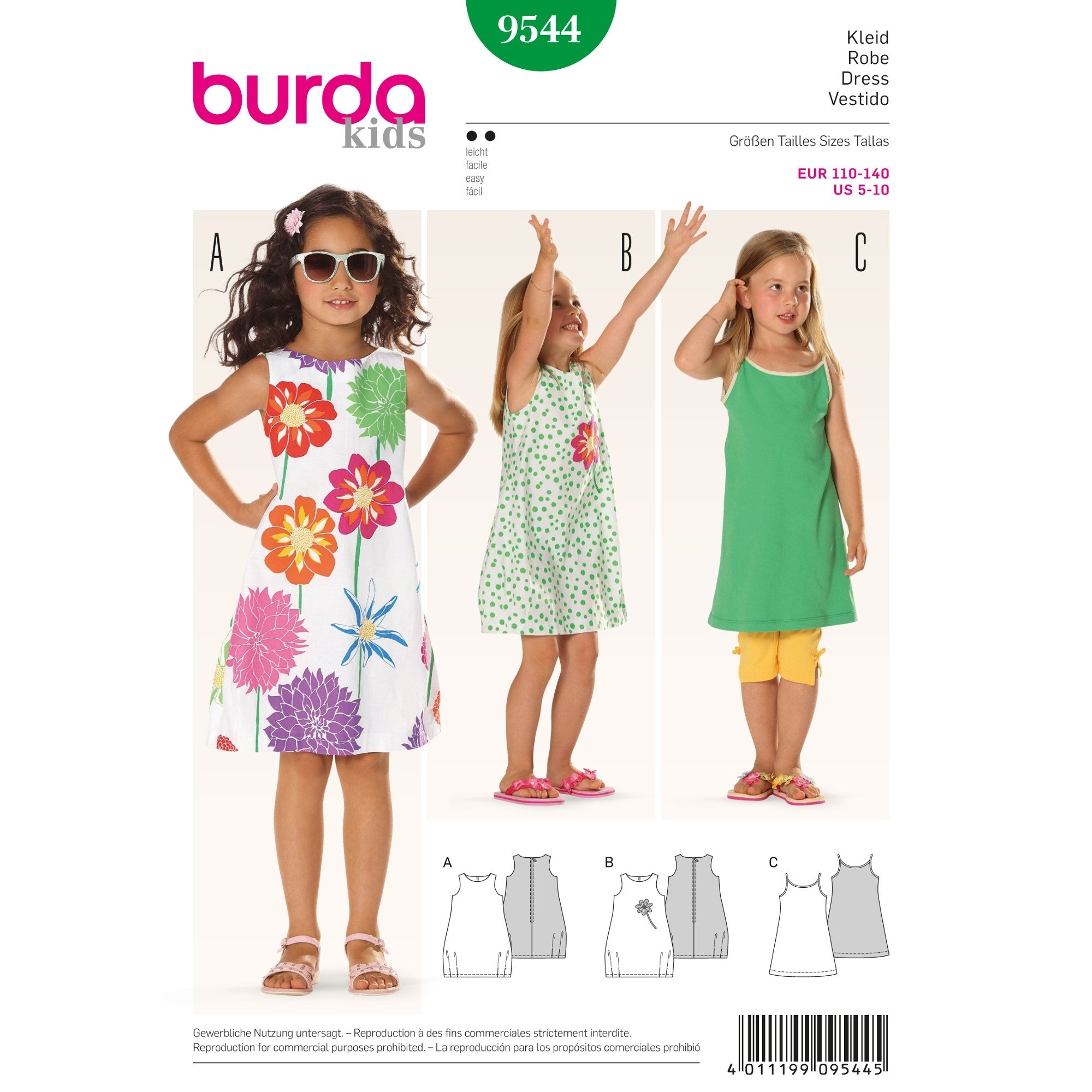 Sewing pattern ROBE Burda 9544