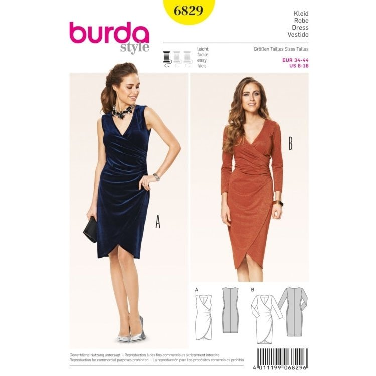 Naaipatron Dress, Burda 6829