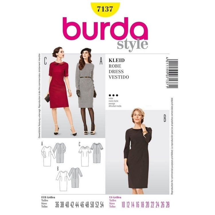 Pattern Dress, Burda 7137